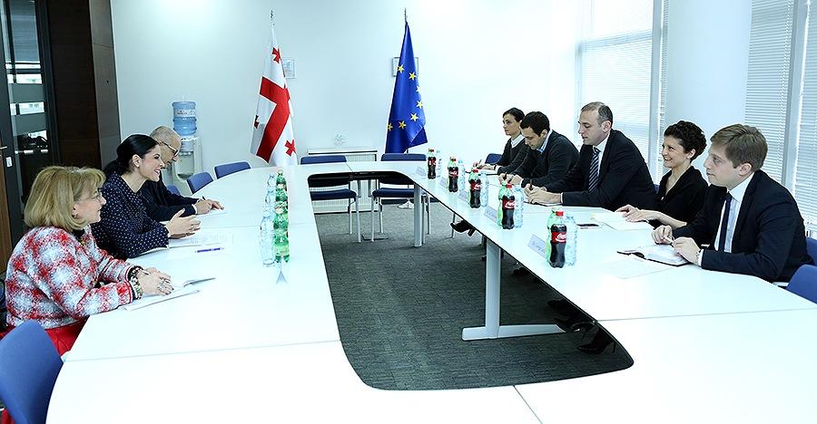 Întâlnirea cu ministrul Justiţiei din Georgia, doamna Thea Tsulukiani