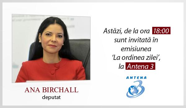 Emisiune Antena 3 – 31 octombrie