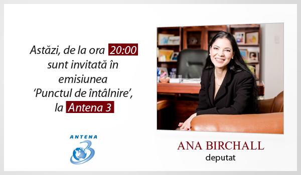 Emisiune Antena 3 – 3 noiembrie