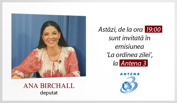 Emisiune Antena 3 – 7 noiembrie