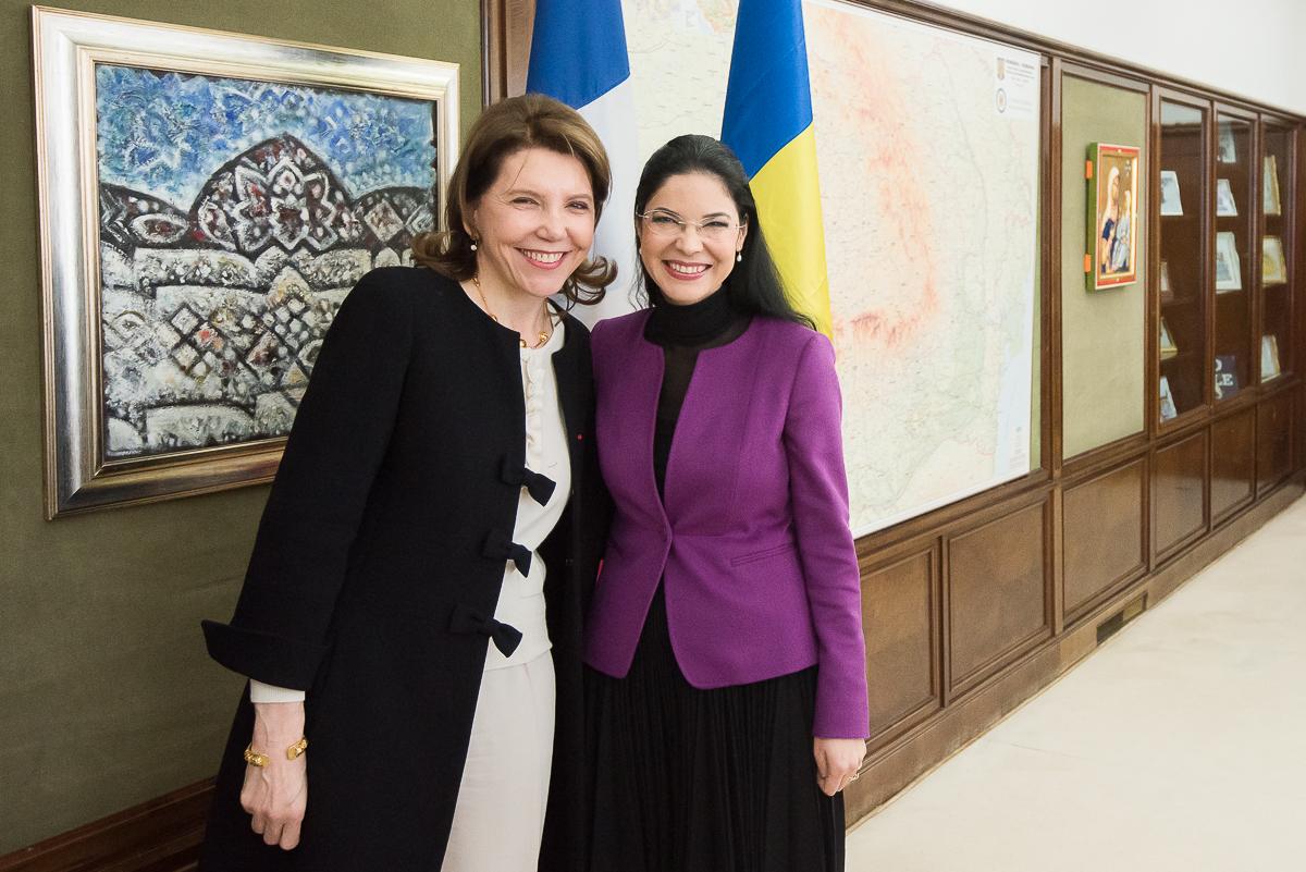 Întrevedere cu ambasadorul Franței, doamna Michèle Ramis