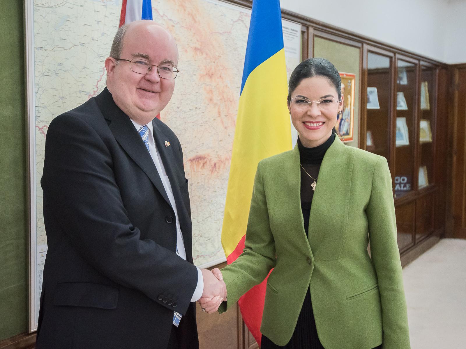 Primirea ambasadorului Marii Britanii, E.S. domnul Paul Brummel