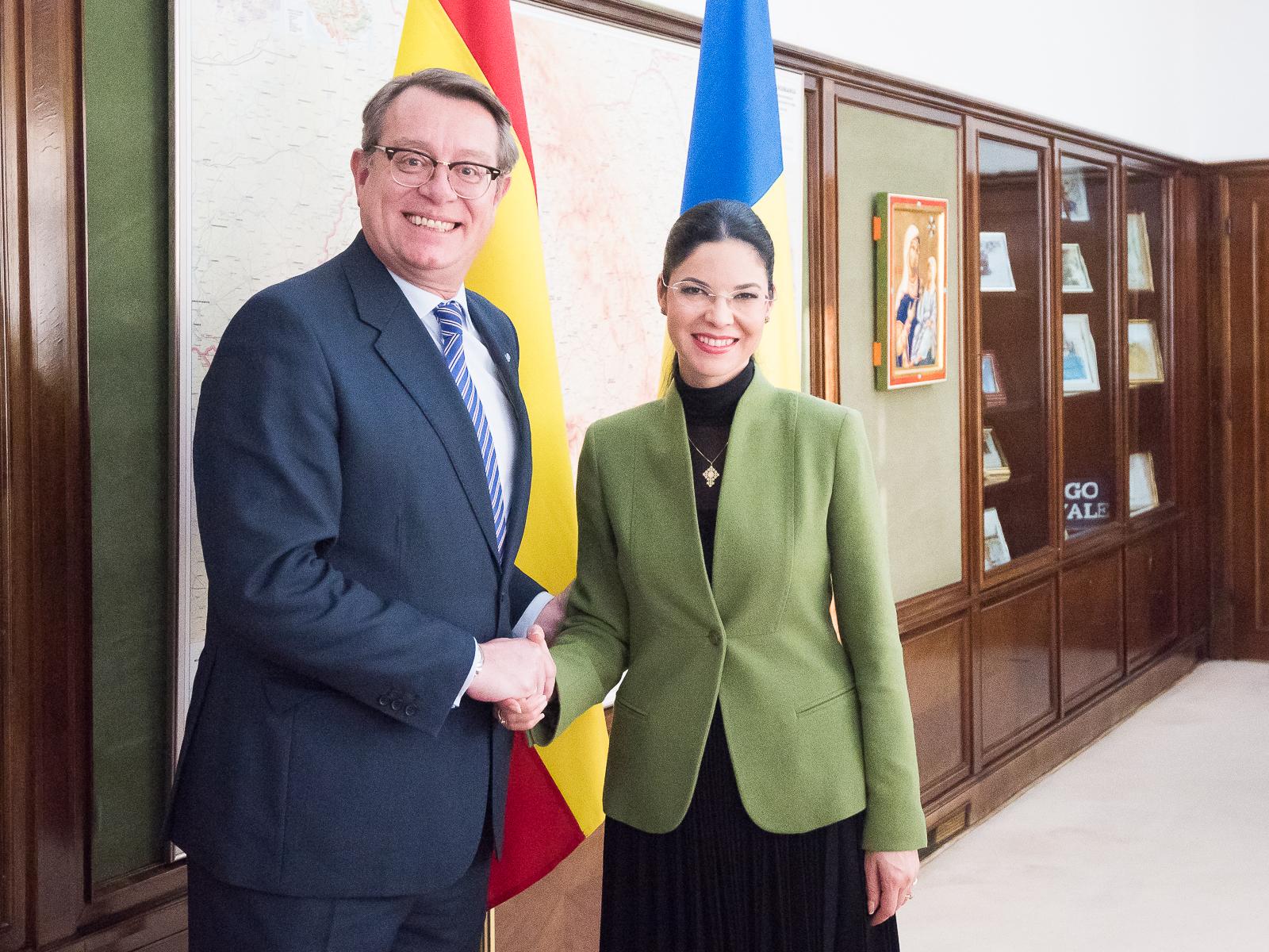 Primirea ambasadorului Regatului Spaniei, E.S. domnul Ramiro Fernandez Bachiller