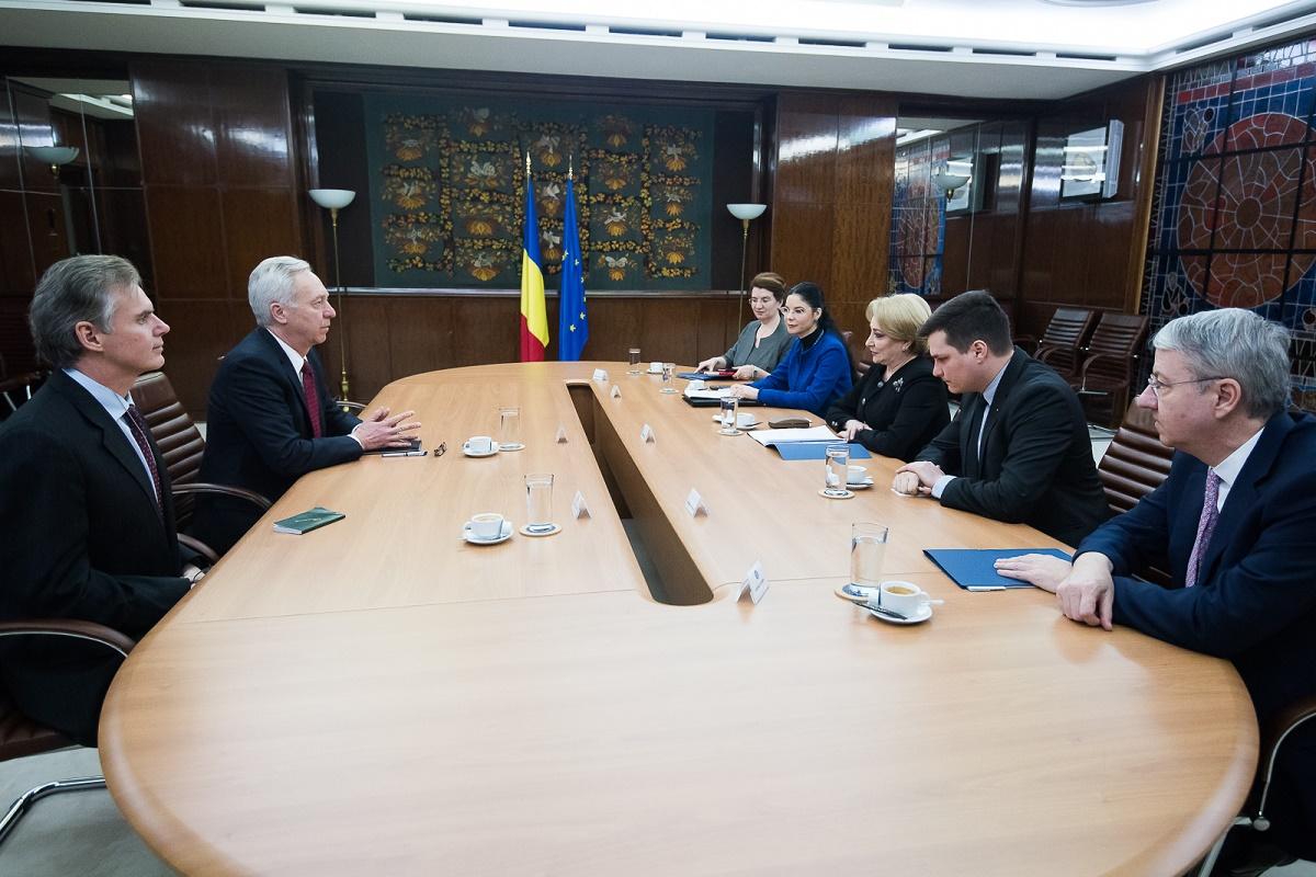 Ridicarea vizelor, candidatura României la OCDE, Parteneriatului Strategic România-SUA, pe agenda discuțiilor dintre prim-ministrul României, Viorica Dăncilă, și ambasadorul SUA, Hans Klemm