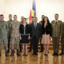 Întrevederea cu militari români și cu reprezentanți ai comunității românești din Polonia