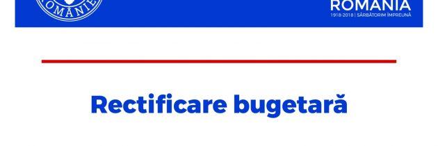 Rectificare bugetară – august 2018