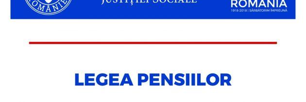 Legea pensiilor – proiect