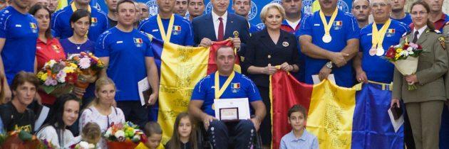 Primirea, de către prim-ministrul Viorica Dăncilă, a echipei care a reprezentat România la Jocurile Invictus desfășurate la Sidney, Australia