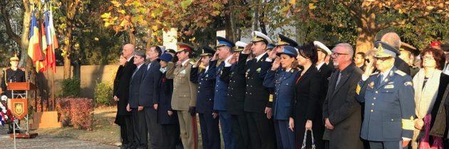 Depuneri de coroane cu ocazia comemorării Zilei Armistițiului
