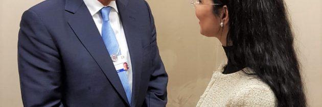 Întrevedere cu Tony Blair, la Davos