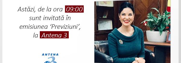 Emisiune Antena 3 – 10 ianuarie
