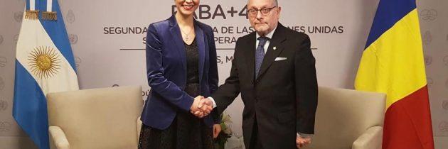 Întrevedere cu ministrul de Externe al Argentinei, Jorge Faurie