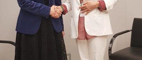 Întrevedere cu Angela Mercedes Ospina de Nicholls, Director General al Agenției Prezidențiale pentru Cooperare (APC) din Columbia