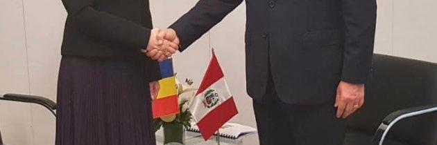 Întrevedere cu ministrul de externe al Peru, Nestor Popolizio