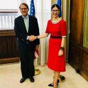 Viceprim-ministrul Ana Birchall, întrevedere cu Matthew Boyse, adjunct al asistentului pentru afaceri europene și eurasiatice al secretarului de stat al SUA