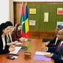 Întâlnire de lucru cu ministrul afacerilor externe din Republica Maldive