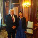 Întrevedere cu președintele Parlamentului Republicii Azerbaidjan, Ogtay Asadov