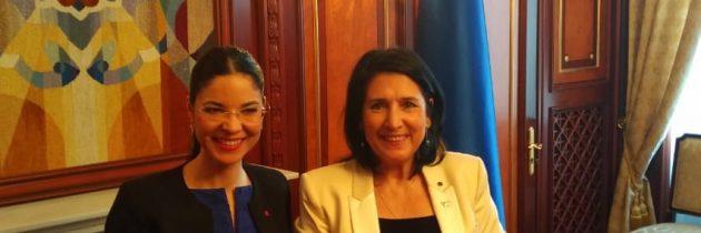 Întrevedere cu președintele Georgiei, Salome Zurabișvili