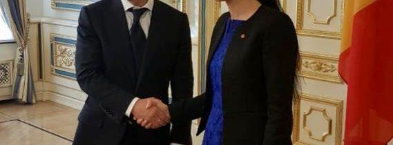 Întrevedere cu președintele Ucrainei, Volodimir Zelenski